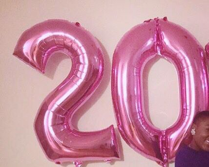 20th Birthday Balloons