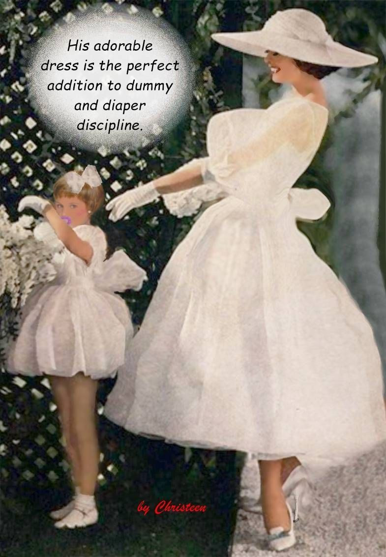 Women wearing wedding diapers - 12 7 Start Him Young And What An Adorable Dress I Don T Care For Diaper Aspects But A Boy May Give Into The Dummy If That Means Wearing Such A Pretty