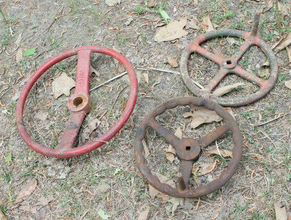 Vintage Industrial Factory Steam Valve Wheel by TattedPicker,