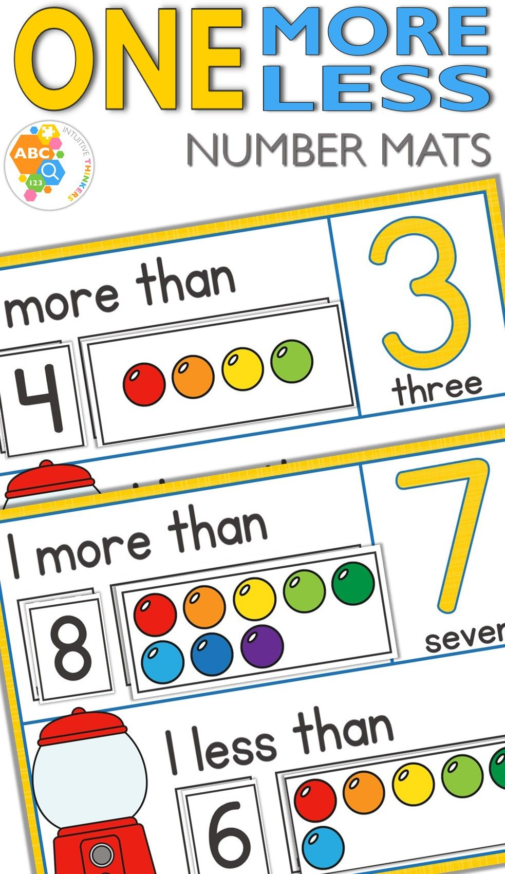 Hese One More One Less Gumball Activity Mats 1 20 Will Help Children Learn To Count One More And On Number Activities Totschool Activities Preschool Activities [ 1701 x 983 Pixel ]