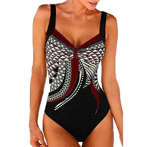 Damen Push Up Bikini Set Monokini Sommer Strand Badeanzug Bademode Schwimmanzug