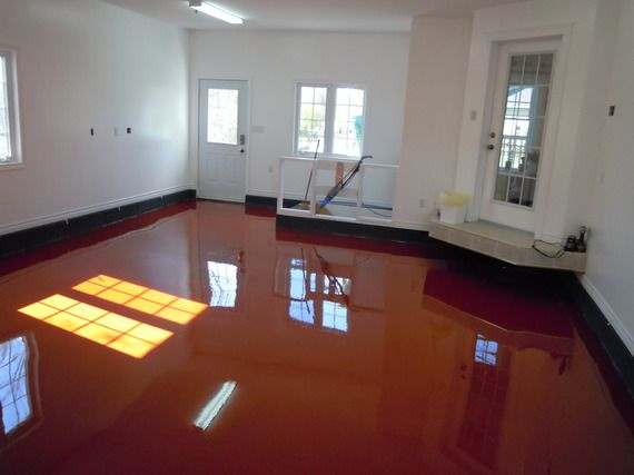 Awesome Red Garage Floor By Creative Concrete Solutions