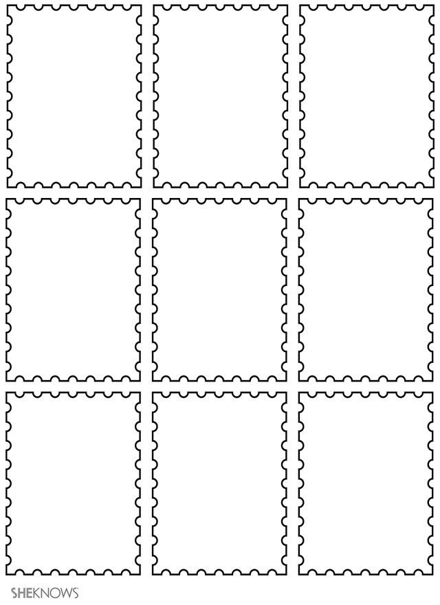 17 Kidsu0027 Craft Templates Perfect for Any Season Postage stamp - blank puzzle template