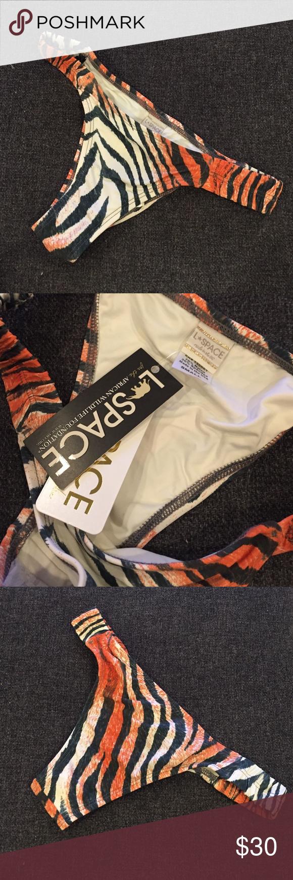 L Space Tiger Stripe Bikini Bottom L Space Tiger Stripe Bikini Bottom. Never worn. Cleaning my closet! l*space Swim Bikinis