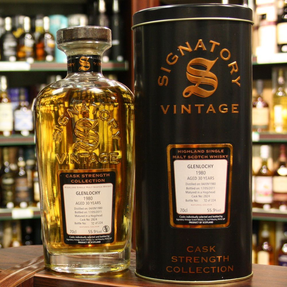 Glenlochy / 1980 / 30 Year Old / Signatory Whisky .