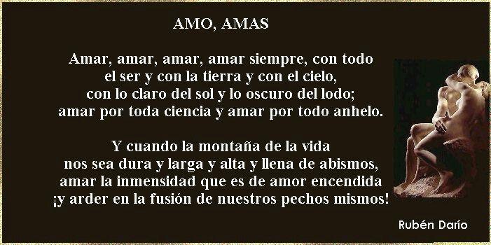 Amo Amas Ruben Dario Poemas Poemas Cortos Y Citas Favoritas