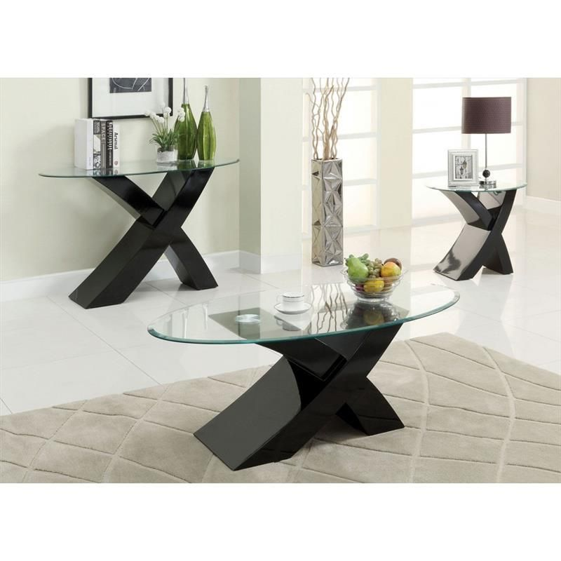 Furniture Of America Xtres Occasional Table Set Modern Coffee