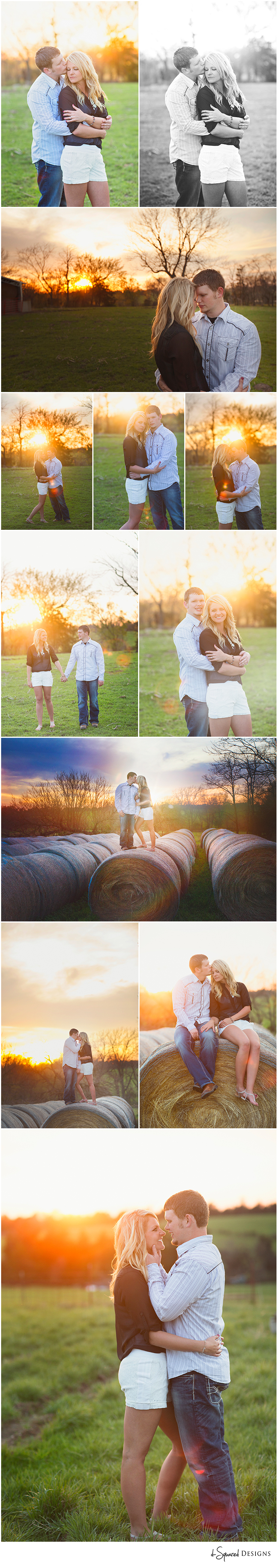d-Squared Designs Missouri Engagement Photography. Sunset engagement. Farm engagement session. Couple in love. Beautiful engaged couple on the farm.
