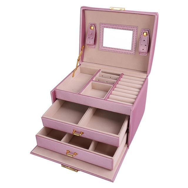 U7 Women Jewelry Storage Organizer Drawers Box Travel Makeup