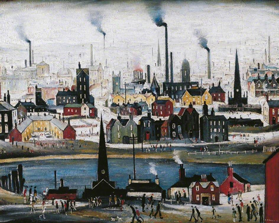 Picture Painting English Artist Industrial Landscape LS Lowry Framed Print