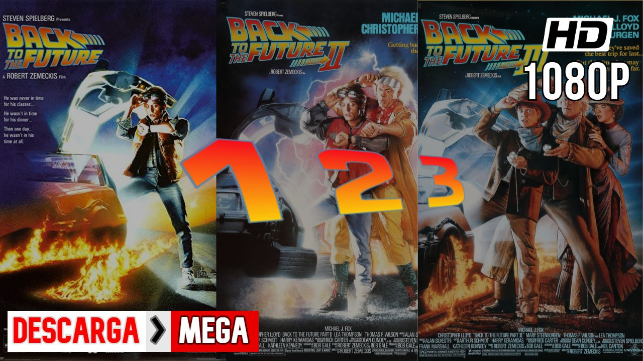 Descargr Volver Al Futuro 1 2 3 Mega Español Latino Hd 1080p Zemeckis Comic Book Cover Comic Books
