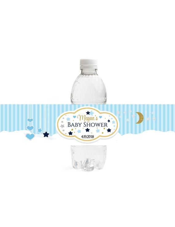 Oh Little Star Water Bottle Label - Baby Shower Water Bottle Label