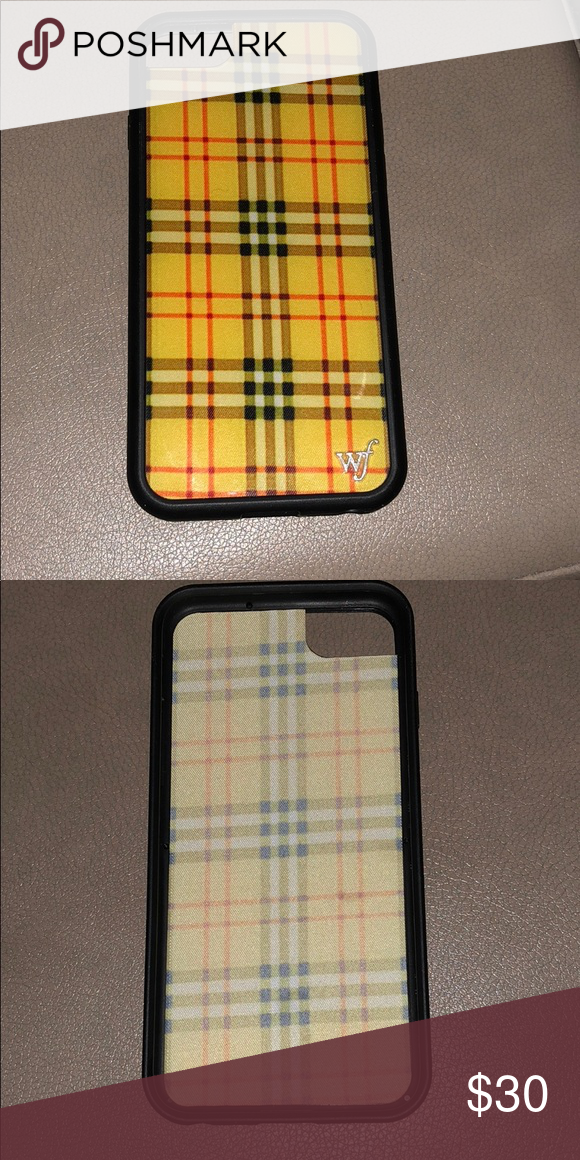 buy popular f7d60 4977c Wildflower iPhone 6/7/8 Case Wildflower yellow plaid (clueless ...