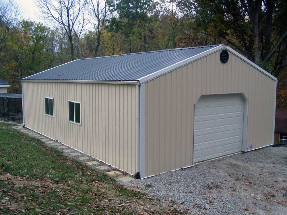 Plain 24x40 pole barn in our very near future country for Pole building garage plans