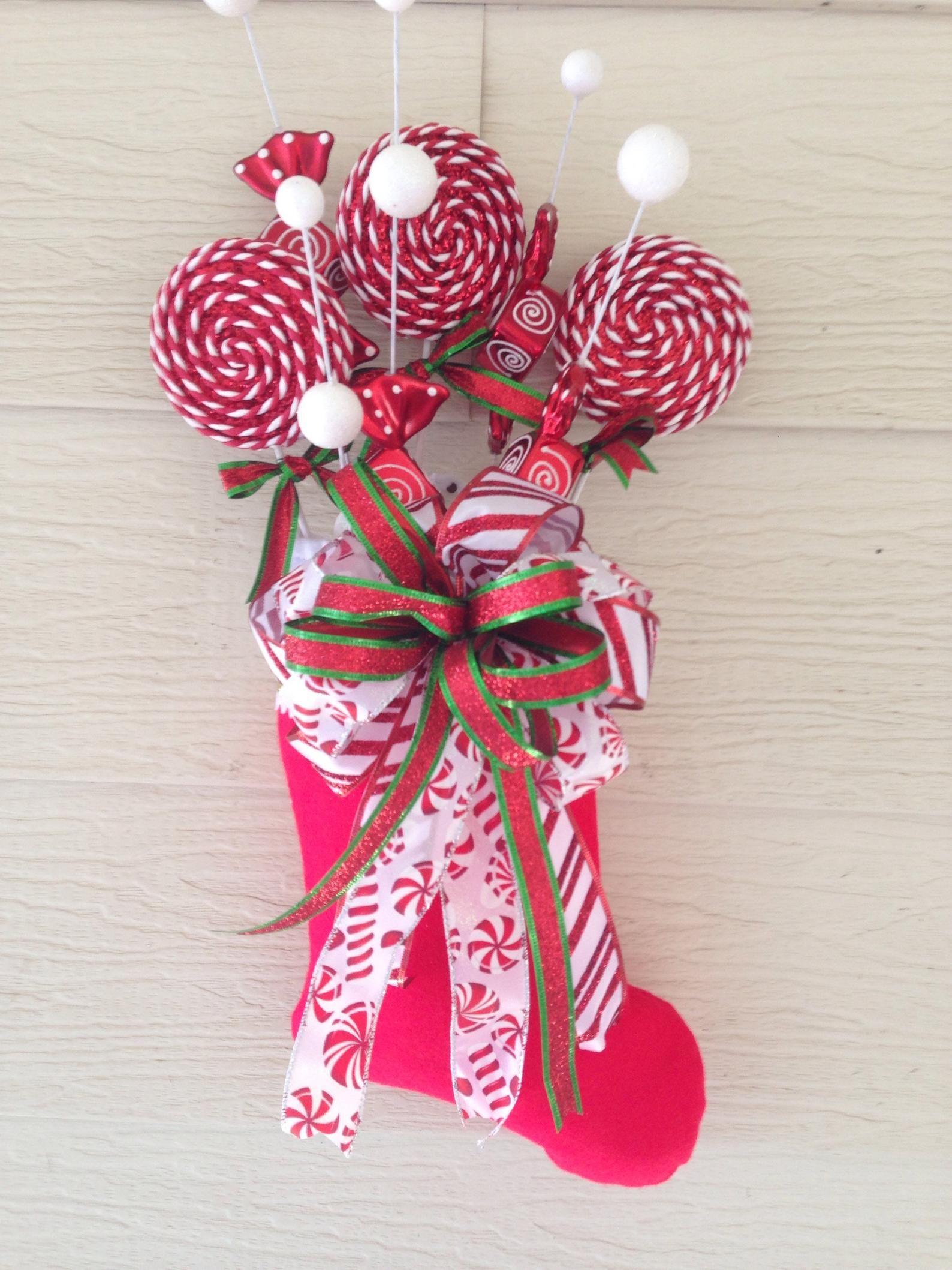 Christmas Stocking Door Hanger Candy in 2020