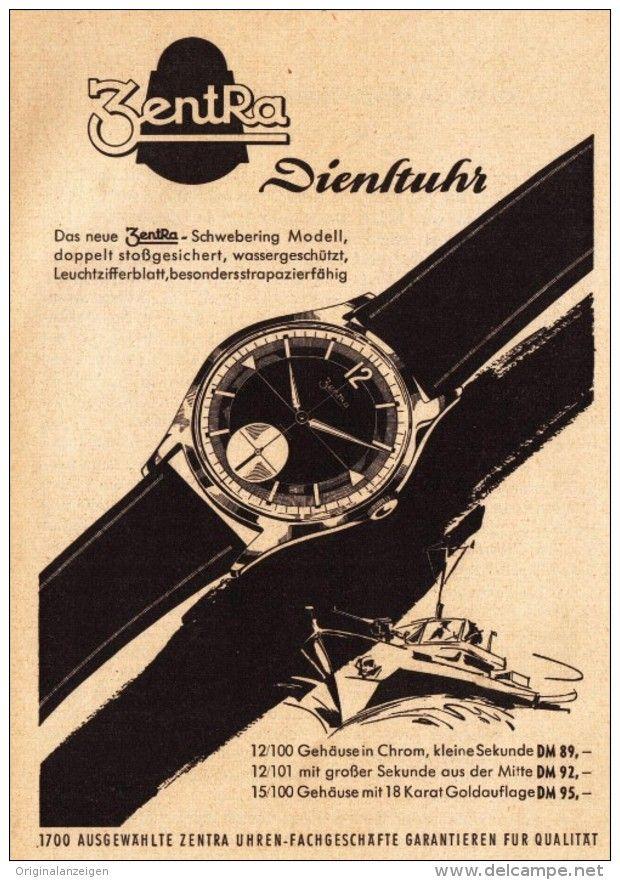 Original-Werbung/ Anzeige 1957 - ZENTRA DIENST - UHR  - ca. 115 x 155 mm