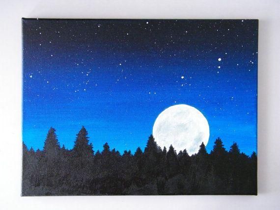 Night Sky Acrylic On Canvas 12x16 Tuval Resimleri Tuval Sanati Tablolar
