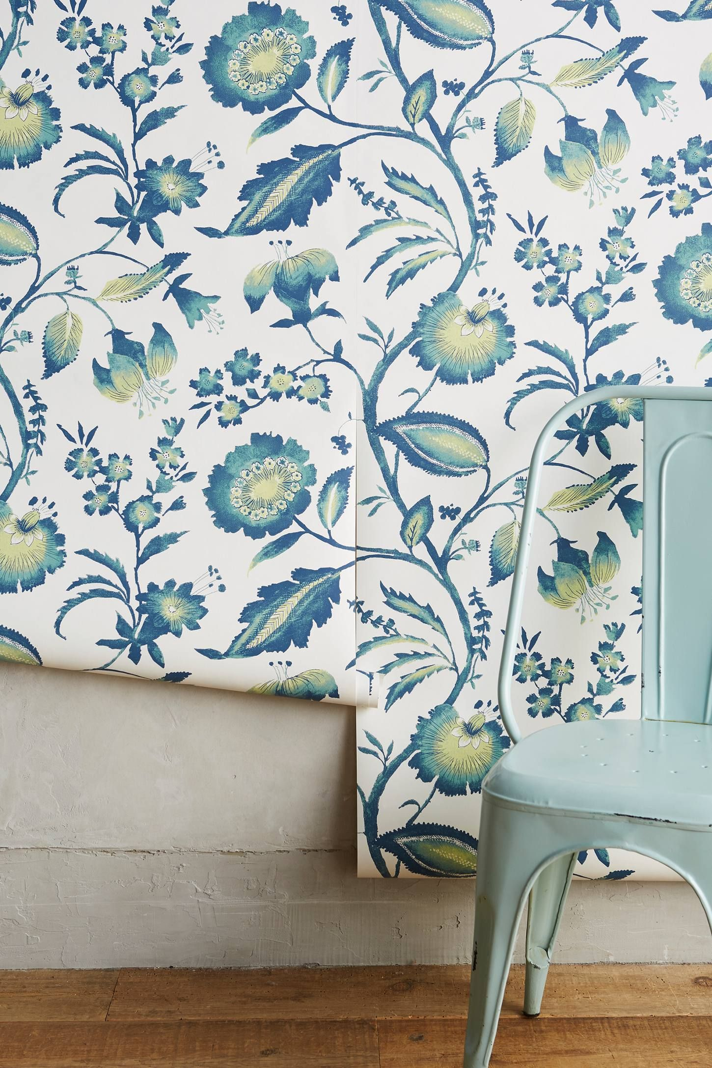 Shop the Jacobean Floral Wallpaper and more Anthropologie