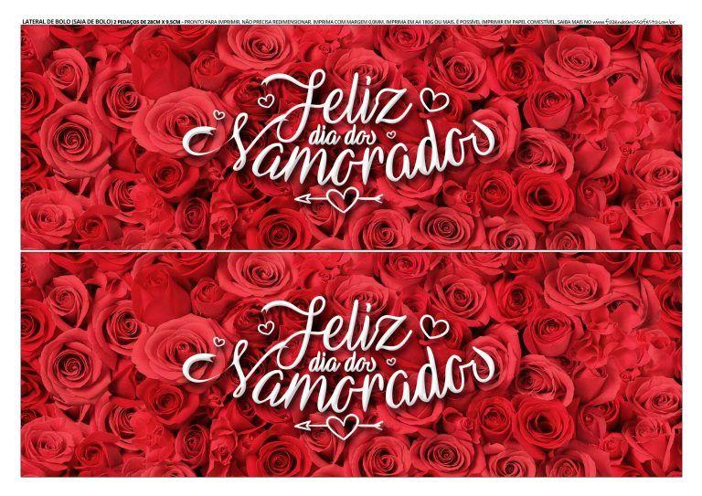 Faixa Lateral De Bolo Dia Dos Namorados 3 Bolo Dia Dos Namorados