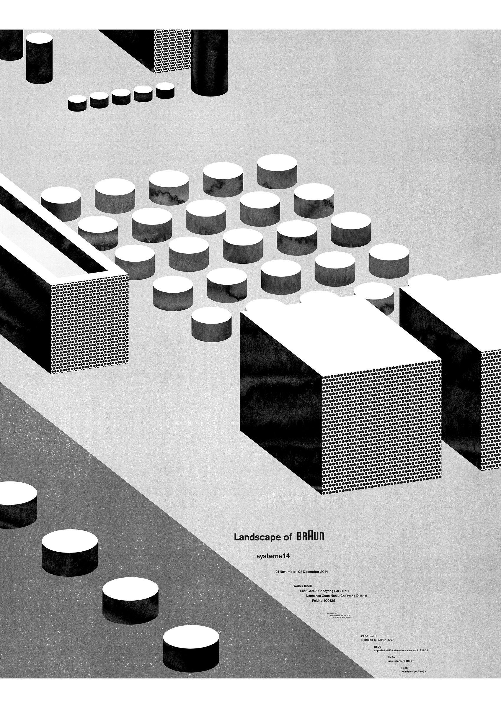 Poster design landscape - Landscape Of Braun Monochrome Pattern And Texture Illustrated Braun Advertising Poster Design Award