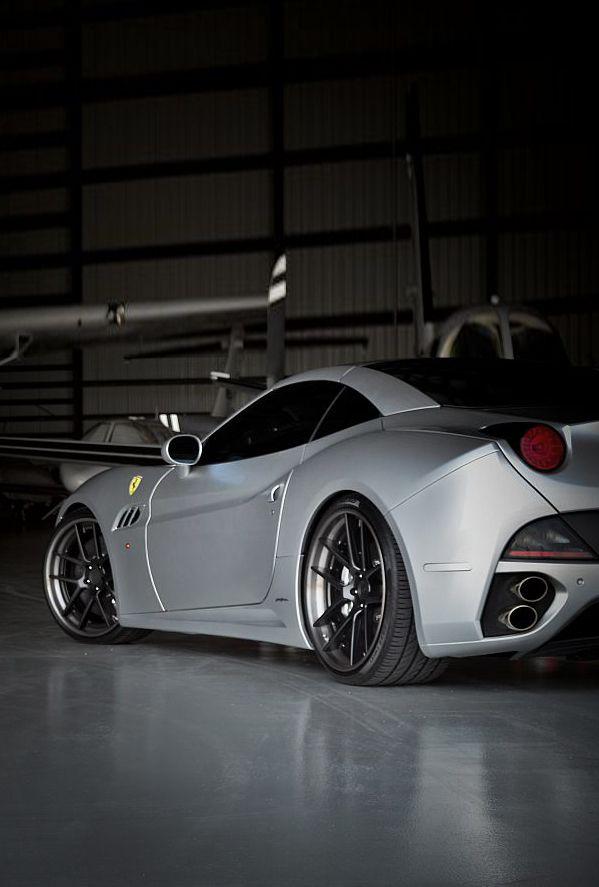 Silver Ferrari I Love When They Do Hanger Shots Ferrari California Cool Sports Cars Sports Cars Luxury