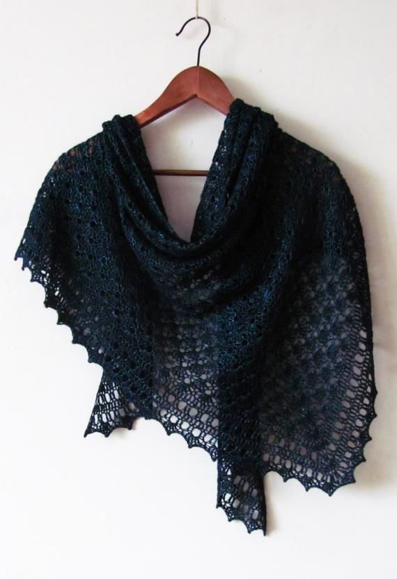 Crochet Shawl Pattern - Black Sea Shawl - easy pattern ...