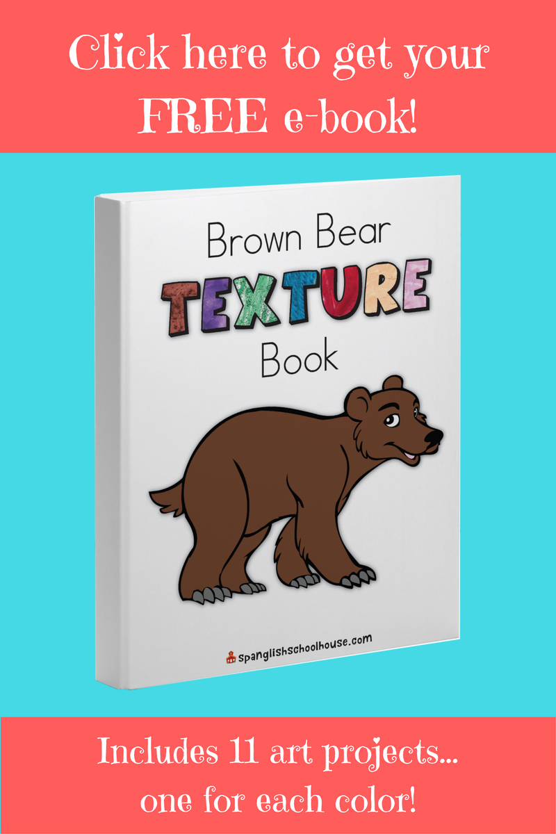 Spanish colors for preschool - Free Brown Bear Printable Art Book Spanish Colorscolor
