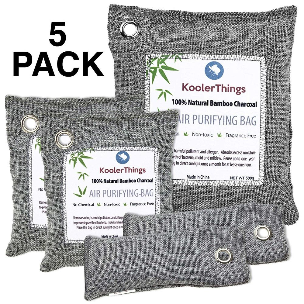 KoolerThings Activated Bamboo Charcoal Bag Odor Remover