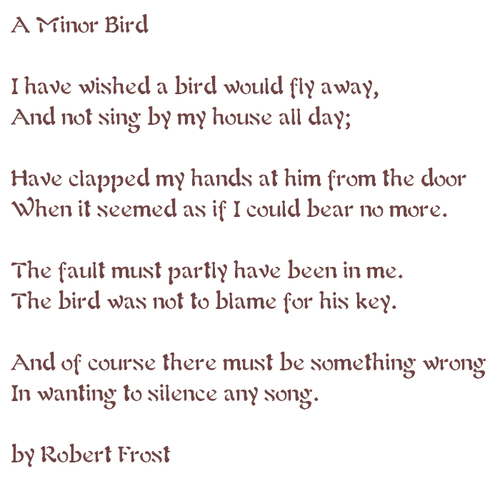 robert frost for once then something