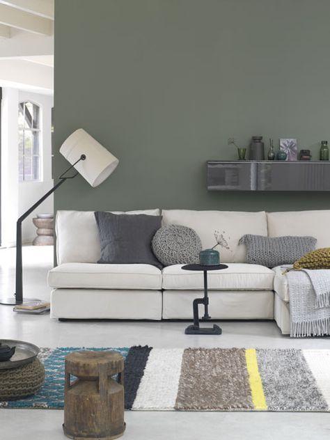 groene muur3 | Livingrooms | Pinterest - Inspiratie muur, Groen en ...