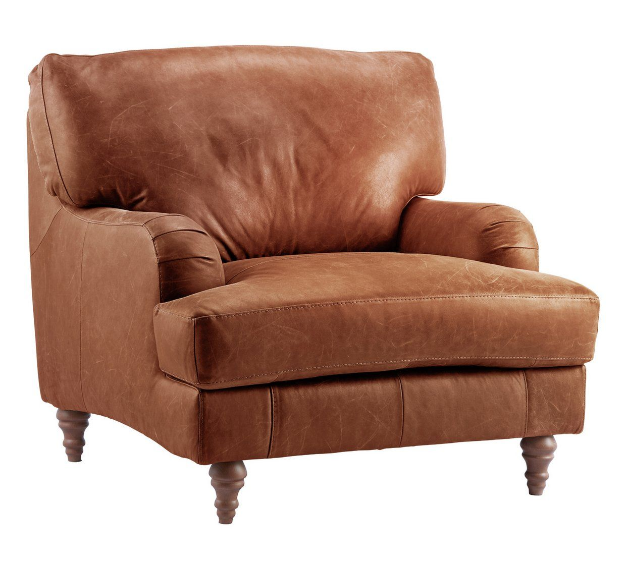 Buy Argos Home Livingston Leather Armchair Tan Armchairs And