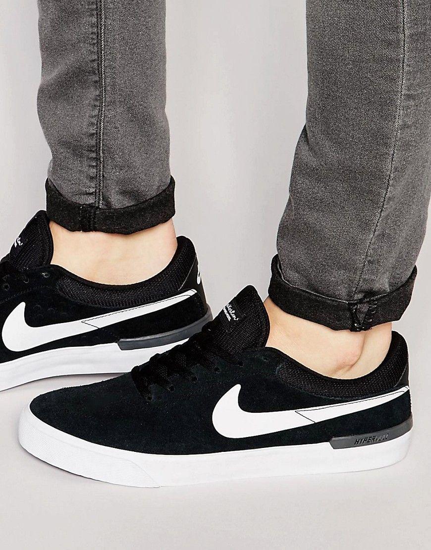 Men Nike SB Koston Hypervulc Trainers In Black