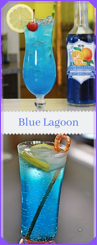 Blue Lagoon Non Alcoholic Blue Curacao Mocktail Blue Drinks Mocktails Fancy Drinks