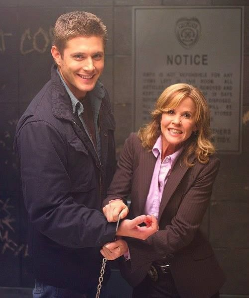 Jensen with Linda Blair