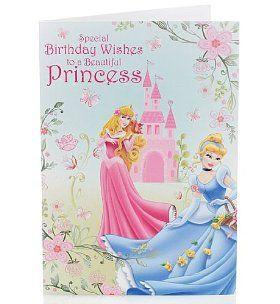 Disney Princess Birthday Card M S Princess Card Disney Birthday Card Disney Princess Birthday