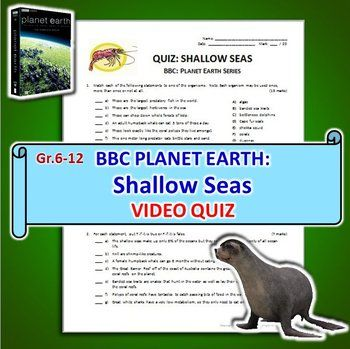 Planet Earth Shallow Seas Video Quiz Editable Science Teacha