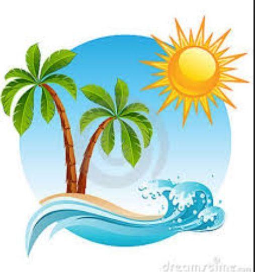 Cartoon Beach Beach Cartoon Tropical Islands Sun Illustration