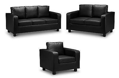 Verona 3 2 1 Fabric Or Leather Sofa In Black Brown Grey Beige Maymunco