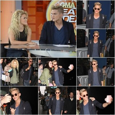 April 15: Cody arriving at the Good Morning America studio in New York City