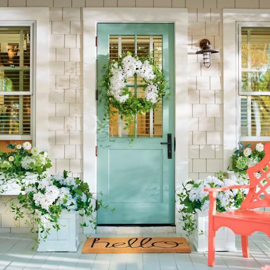 Haley Hydrangea Wreath & Haley Hydrangea Wreath | Doors doors doors! | Pinterest | Front ...
