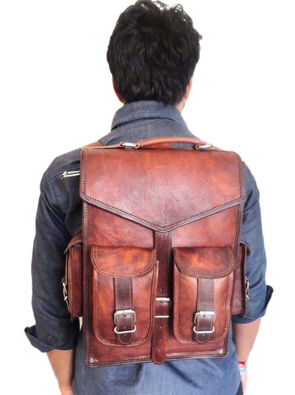 Brown Denver Leather Ruckback | Кожаный рюкзак, Кожаные