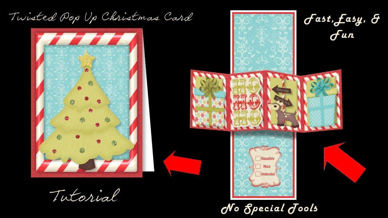 Twisted Pop Up Christmas Card Kit Youtube Pinterest Card Kit