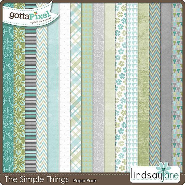The Simple Things Papers :: Gotta Grab It :: Gotta Pixel Digital Scrapbook Store  $2.00