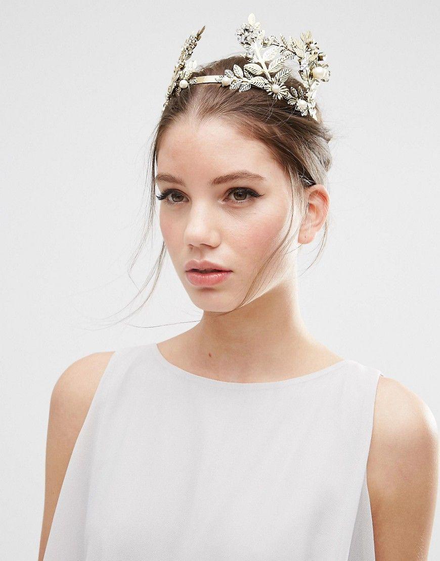 Image 1 of ASOS Statement Leaf Hair Crown   Bach   Pinterest   Crown