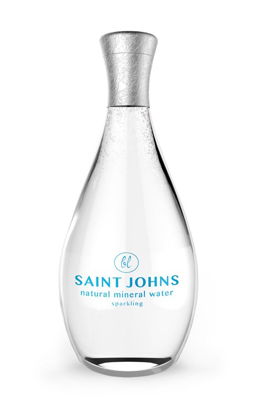 Luxury Packaging Design Bottled Water Glass Glass Water Bottle