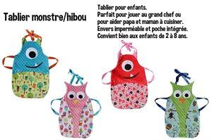 Idée couture pour enfants: tablier cuisine …   Projets à essayer ...