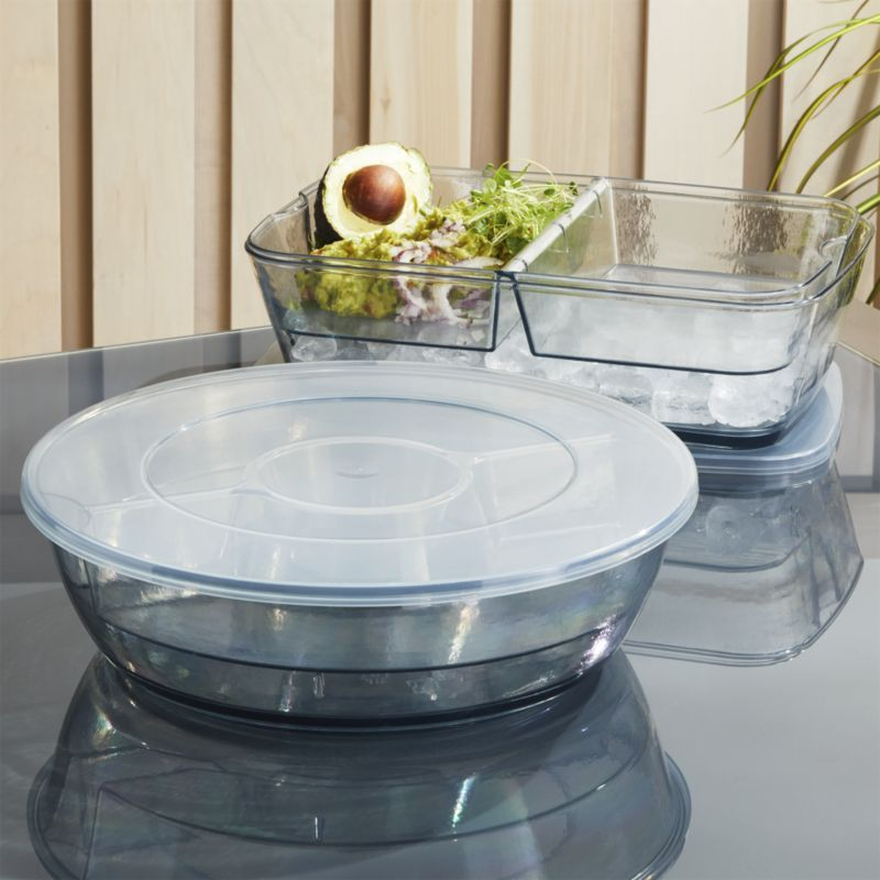 Vaso Grey On Ice Chip And Dip Tray Ice Chips Dip Tray Chip