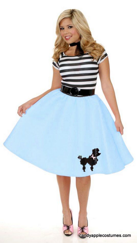 5d250291fc99a Adult 50's Felt Poodle Skirt - Pink, Red, Black, Purple, Blue - Candy Apple  Costumes