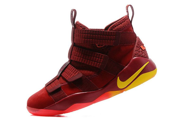 newest 2c00f 7419b Free Shipping Only 69  Nike Zoom LeBron Soldier 11 XI Playoffs Wine Gold  Max Orange