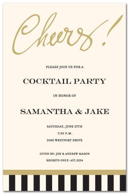 engagement party invite for cocktail party Engagement Party - how to word engagement party invitations